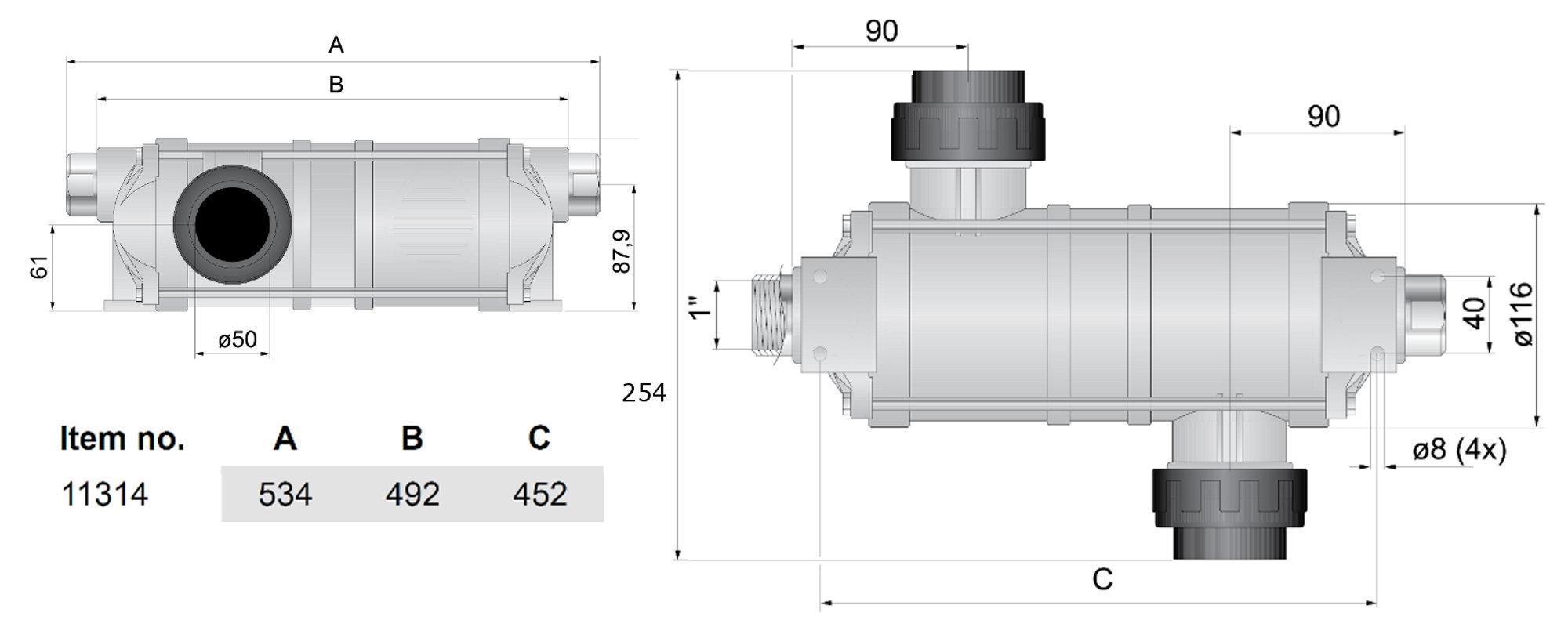 Теплообменники воды с терморегулятором кирасир 20 с теплообменником